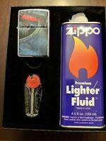 LEVI Jeans ZIPPO LIGHTER gift set in original box, unstruck, never used, rare