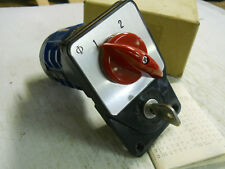 Kraus & Naimer Lockable Selector Switch Type C10 New