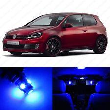 12 x Ultra Blue LED Interior Light Package For 2006 - 2009 VW Golf GTi Mk5