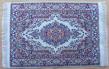 Escala 1:12 25cm X 17.5cm alfombra turca de tejido muñeca casa miniatura Alfombra P12L