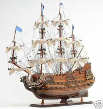 """Soleil Royal Tall Ship Wooden Model 28"""" French Warship Built Boat New"""