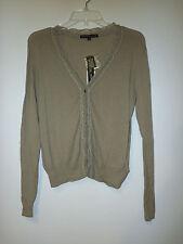 Antonio Melani New Womens Rochelle Dark Driftwood Cardigan Sweater Small