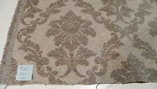 Beige Flower Print Cut Chenille Upholstery Fabric 1 Yard  R165