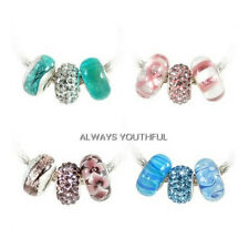 Murano 3 Piece Charm Set 925 Sterling Silver U Pick