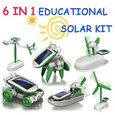 6 in 1 Creative DIY Education Learning Power Solar Robot Kit Children Toys Gift