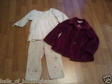 3pc Girls Gap Capri 6 Slim Old Navy Top Small Cherokee Crushed Velvet Coat 5T