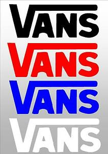 VANS CAR STICKER DECAL FOR WINDOW UTE BOAT 4X4 CAR TRUCK, SKATEBOARD OR LAPTOP