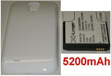 Custodia Bianco + Batteria 5200mAh tipo B600BE B600BU per SAMSUNG Galaxy S4 LTE