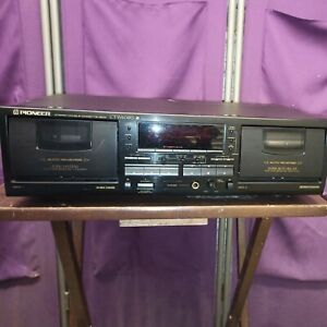 Pioneer CT-W604RS Stereo Double Cassette Deck Tape Player Recorder TESTED WORKS!