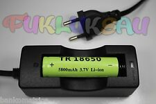 1 BATTERIE RECHARGEABLE LI-ION 18650 3.7V 5800mAh + CHARGEUR CHARGE TRES RAPIDE