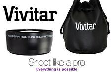 Vivitar Pro HD4 Optics 2.2x Telephoto Lens For Fujifilm Finepix HS33EXR HS30EXR