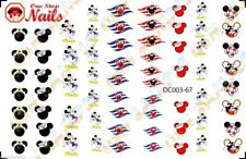 67pcs Disney Cruise Nail Art Decals Stickers Transfers. DC003-67