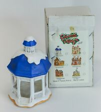 1991 Lefton Colonial Village Gazebo 00227 Christmas Decor Blue Roof w/ Box
