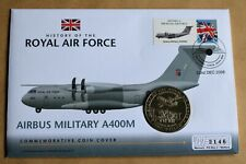 More details for history of raf 2008 cover + 2007 nauru $1 vickers valenta & airbus a400m coin
