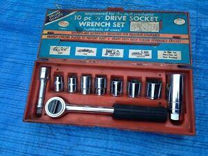 """Vintage Oxwall 10 piece 3/8"""" drive AF socket set"""