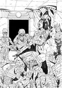 PURGATORY BY LUCAS MARQUES - ART PINUP Drawing Original