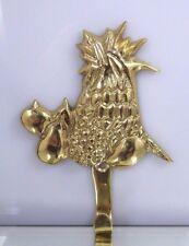 Vintage Lacquered Brass Pineapple Fruit Hook Hanger Wall Key Holder Towel India