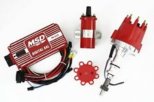 Red SBF 289 302 MSD Ignition 6AL Box TSP Pro Billet Distributor & Coil Ford