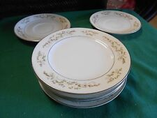 "INTERNATIONAL SILVER CO. China ""Springtime"" 5 BREAD Plates & 2 FREE Saucers"