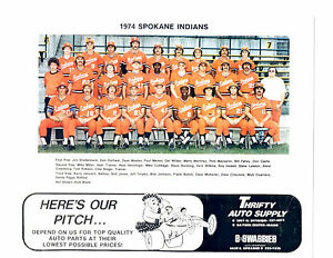 CHAMPIONS 1974 SPOKANE INDIANS 8X10 TEAM PHOTO BASEBALL WASHINGTON