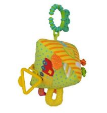 Soft Educational Hanging Toy with Rattle Perfect Pushchair Cot Toy, Triangle