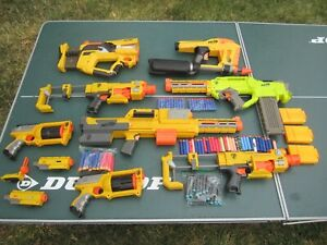 YELLOW NERF GUN LOT