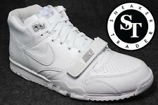 NIKE LAB COURT AIR TRAINER 1 MID SP/ FRAGMENT 806942-110 US OPEN WHITE SZ: 10.5