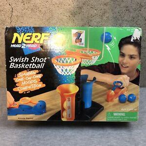 NEW Vtg NERF Head 2 Head Swish Shot Basketball Game SEALED 1996