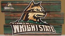 "WRIGHT STATE RAIDERS LOGO WOOD SIGN 14""X25'' BRAND NEW FREE SHIPPING WINCRAFT"