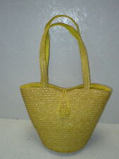 AMARIGE DE GIVENCHY BRAIDED WICKER BAG WITH HANDLES AND STRING LATCH