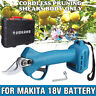 For Makita BL1830 Battery Electric Pruning Shears Secateur Branch Cutter Scissor