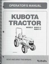 Kubota B2301 B2601 Tractor Operator Manual 6C540-63115*