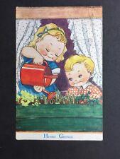 "Vintage Postcard: Comic #B43: Raphael Tuck Oilette ""Home Grown"" Posted 1944"