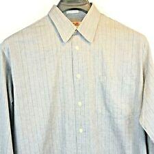 Mondo di Marco Size 16 (34-35) Men's Gray Striped Shirt Italy A18257