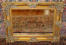 Fantastic French Style Carved Gold Beveled Glass Mirror