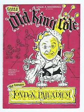 LITTLE OLD KING COLE PALLADIUM SIGNED CHARLIE DRAKE PROGRAMME 1961-62