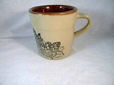 RARE Vintage Holt Howard USA Horse Drawn Fire Engine Oven Proof Coffee Mug Cup