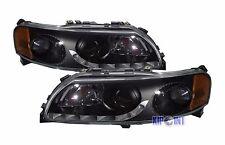 For Volvo S60/V70 2001-2004 Styling Glass Headlight Black Bezel RHD