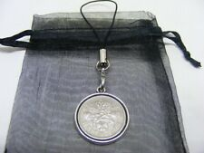 1961 Lucky Sixpence Mobile Phone / Handbag Charm - Nice Birthday Present