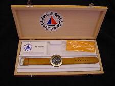 Bord a' Bord Solid Bronze French Men's Watch Quartz Genuine Leather