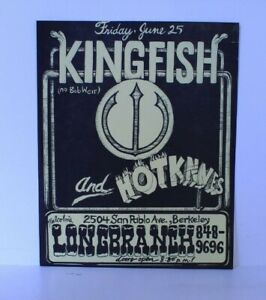 Original Kingfish (No Bob Weir) Handbill Flyer Longbranch, Berkley US 1976