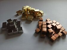 DELUXE METAL CUBES upgrade for TERRAFORMING MARS CARCASSONNE STONE AGE 7 WONDERS