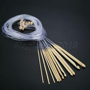 12pcs/Set Afghan Tunisia Crochet Hooks Knitting Needles Sewing Accessories 120cm