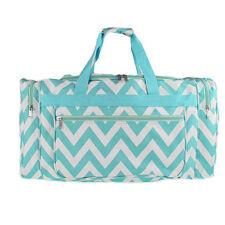 "22"" Blue/White Chevron Print  Duffle Bag-NWT"