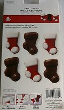 CELEBRATE-IT CHRISTMAS Lollipop Mold CHRISTMAS STOCKINGS 6 Molds