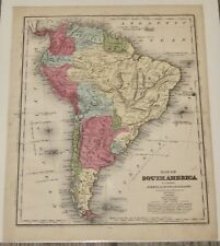 1844 South America Onleys School Geography Map By D F Robinson