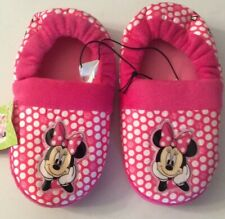 Toddler Girls Disney Minnie Mouse Slippers Pink Polka Dot Size 11-12