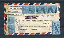 USA Luftpostbrief mit Zensur Dearborn-Marktredwitz - b2366