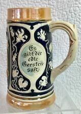 Vintage Hand-Painted German Lady's Lidless Stein 1/4 Liter Stamped