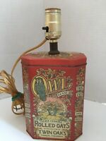 Vintage Red Owl Brand Cereal Tin Lamp Kitchenware Lamps Country Design